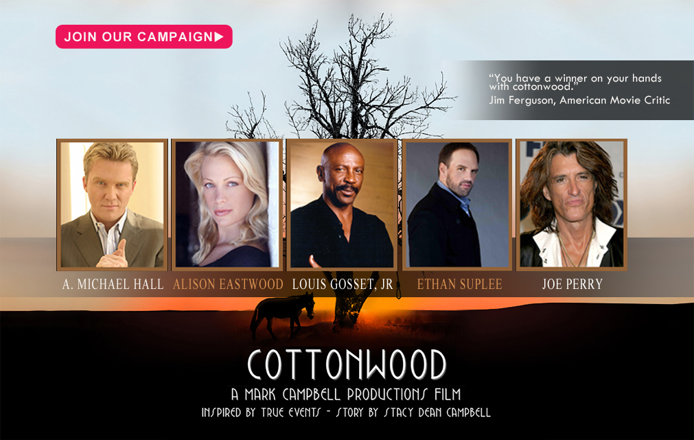 "Mark Campbell Productions Signs JOE PERRY to their Newest Film, ""Cottonwood"""