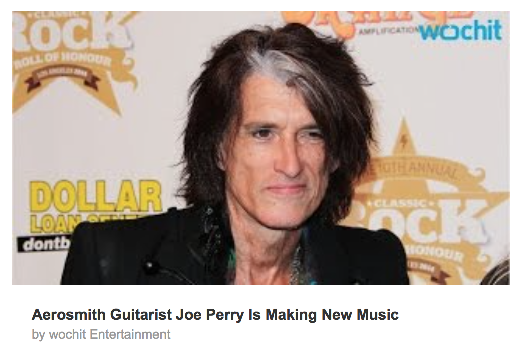 Aerosmith Guitarist Joe Perry Is Making New Music