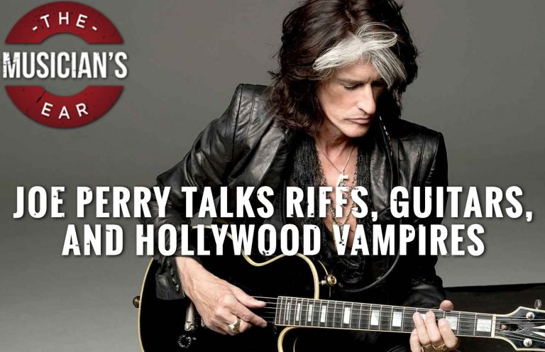 Joe talks riffs, guitars, Vampires and Aerosmith.