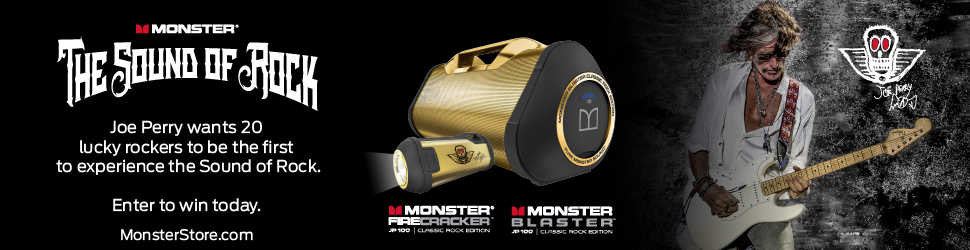 Win a Signature Joe Perry Monster Blaster Classic Rock Edition or Monster FireCracker