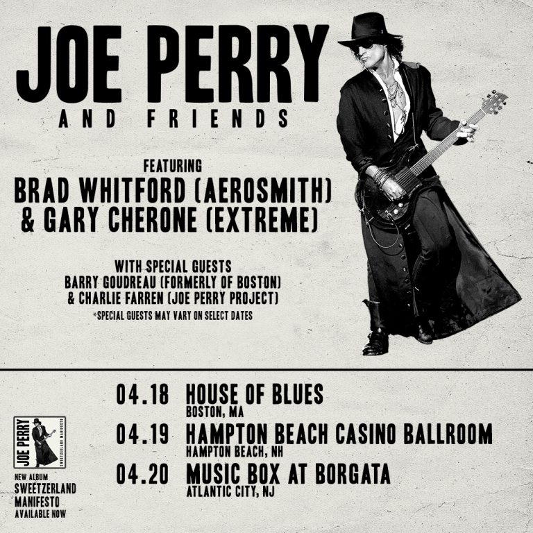 Joe Perry announces solo shows with special guests!