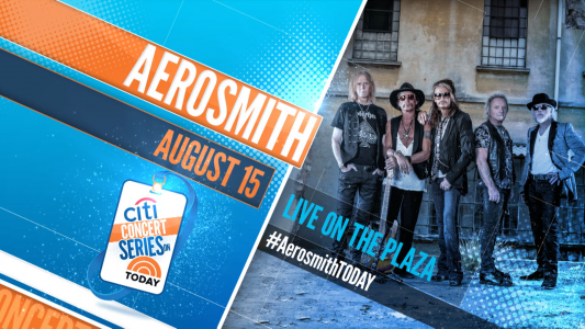 Aerosmith set to rock the Today Show!