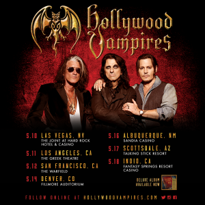 The Hollywood Vampires Spring 2019 dates!
