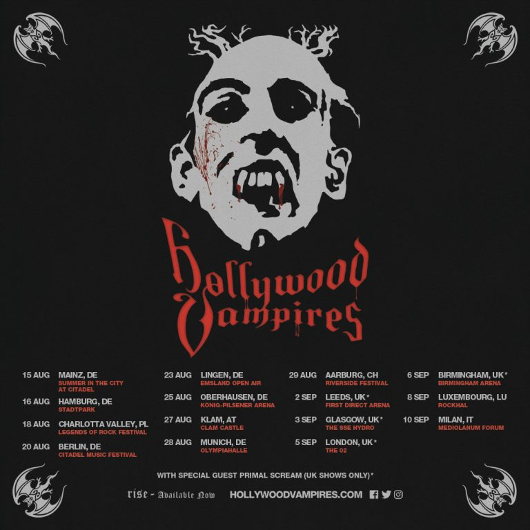 New Hollywood Vampire 2020 European Tour Dates