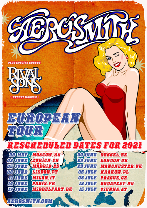 Aerosmith 2021 Rescheduled Tour Dates