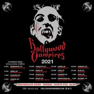 Hollywood Vampires 2021 Rescheduled Tour Dates